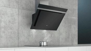 Campana de Pared Decorativa Siemens LC87KHM60 Cristal Negro de 80 cm con una potencia de 700 m³/h | Clase B | iQ300 - 5