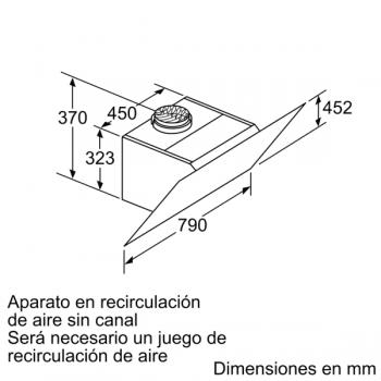 Campana de Pared Decorativa Siemens LC87KHM60 Cristal Negro de 80 cm con una potencia de 700 m³/h | Clase B | iQ300 - 8