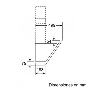 Campana de Pared Decorativa Siemens LC87KHM60 Cristal Negro de 80 cm con una potencia de 700 m³/h | Clase B | iQ300 - 9