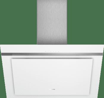 Campana de Pared Decorativa Siemens LC87KHM20 Cristal Blanco de 80 cm con una potencia de 700 m³/h | Clase B | iQ300