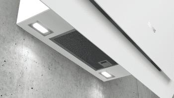 Campana de Pared Decorativa Siemens LC87KHM20 Cristal Blanco de 80 cm con una potencia de 700 m³/h | Clase B | iQ300 - 3