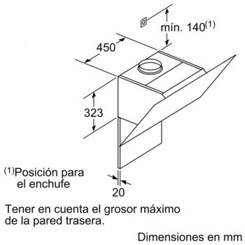 Campana de Pared Decorativa Siemens LC87KHM20 Cristal Blanco de 80 cm con una potencia de 700 m³/h | Clase B | iQ300 - 12