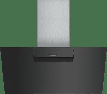 Campana de Pared Decorativa Siemens LC87KEM60 Negra de 80 cm con una potencia de 669 m³/h | Motor iQdrive Clase B | iQ300