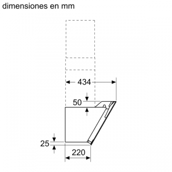 Campana de Pared Decorativa Siemens LC87KEM60 Negra de 80 cm con una potencia de 669 m³/h | Motor iQdrive Clase B | iQ300 - 7