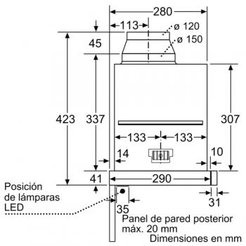 Campana Telescópica Extraíble Siemens LI69SA684 Metallic de 60 cm con una potencia de 935 m³/h | Motor iQdrive Clase A | iQ700 - 3