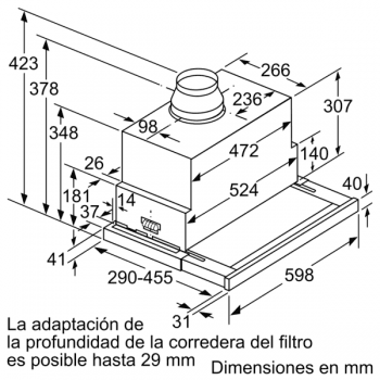 Campana Telescópica Extraíble Siemens LI69SA684 Metallic de 60 cm con una potencia de 935 m³/h | Motor iQdrive Clase A | iQ700 - 4