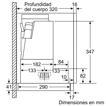 Campana Telescópica Extraíble Siemens LI97SA531 en Plata Metalizado de 90 cm con una potencia de 397 m³/h | Motor iQdrive Clase A | iQ300 - 7