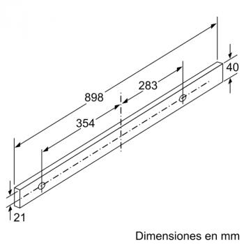 Campana Telescópica Extraíble Siemens LI97SA531 en Plata Metalizado de 90 cm con una potencia de 397 m³/h | Motor iQdrive Clase A | iQ300 - 9