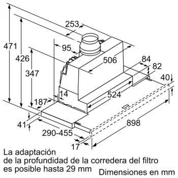 Campana Telescópica Extraíble Siemens LI97SA531 en Plata Metalizado de 90 cm con una potencia de 397 m³/h | Motor iQdrive Clase A | iQ300 - 10