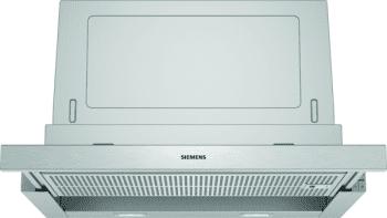 Campana Telescópica Extraíble Siemens LI67SA531 en Plata Metalizado de 60 cm con una potencia de 399 m³/h | Motor iQdrive Clase A | iQ300