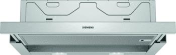Campana Telescópica Extraíble Siemens LI64MB521 en Plata Metalizado de 60 cm con una potencia de 389 m³/h | Motor iQdrive Clase B | iQ100 - 1