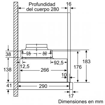 Campana Telescópica Extraíble Siemens LI64MB521 en Plata Metalizado de 60 cm con una potencia de 389 m³/h | Motor iQdrive Clase B | iQ100 - 3