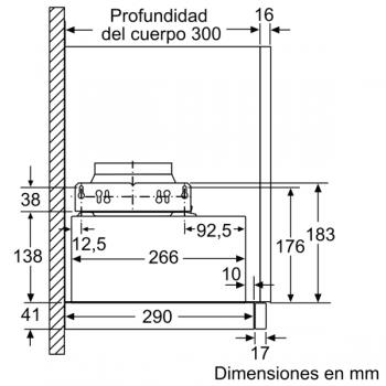 Campana Telescópica Extraíble Siemens LI64MB521 en Plata Metalizado de 60 cm con una potencia de 389 m³/h | Motor iQdrive Clase B | iQ100 - 4