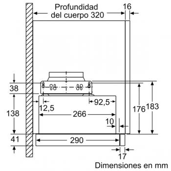 Campana Telescópica Extraíble Siemens LI64MB521 en Plata Metalizado de 60 cm con una potencia de 389 m³/h | Motor iQdrive Clase B | iQ100 - 5