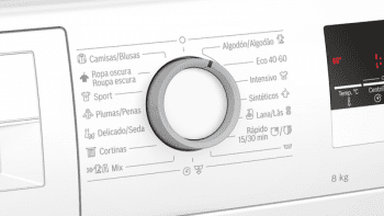 Lavadora Bosch WAN28281ES Blanca de 8 Kg a 1400 rpm | 65% más rápido speedPerfect | Motor EcoSilence A+++ -30% | Serie 4 - 3