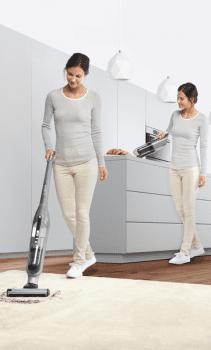 Aspiradora Sin cable Bosch BCH3P210 Acero Flexxo 21.6 V | 2 en 1: Aspirador escoba y Aspirador de mano  | Serie 4 | Stock ⭐ - 8