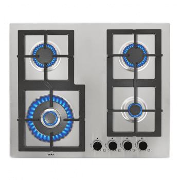 Placa de Gas Teka EFX 60.1 4G AI AL DR (112610015) de 60 cm con 4 Quemadores de Gas de alta eficiencia