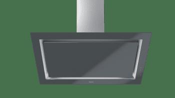 Campana decorativa vertical Teka DLV 98660 TOS (112930033) en Cristal Gris, de 90cm a 696 m³/h | Función FreshAir  | Clase A+