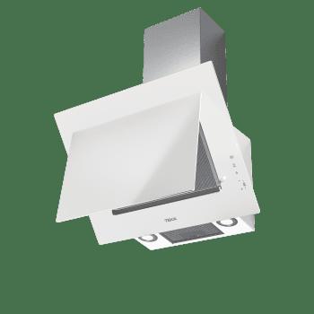 """Campana decorativa vertical Teka DVT 68660 TBS (112930040) en Cristal Blanco, de 60cm a 698 m³/h   Función FreshAir   Sistema aspiración """"Contour""""    Clase A+ - 9"""