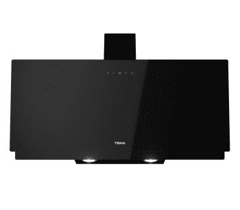 Campana decorativa vertical Teka DVN 94030 TTC (112950008) en Cristal Negro, de 90 cm a 425 m³/h | Sistema aspiración Perimetral