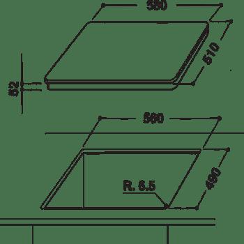 Placa de Inducción 3 Zonas Hotpoint KID630LC Diámetro Máximo 28 cm   Negro   Oferta   Stock - 2