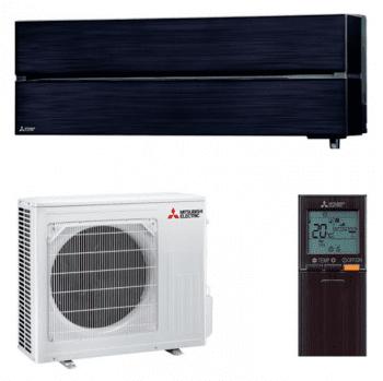 Set Aire acondicionado Mitsubishi MSZ-LN25VGB Split 1x1 de 2,5 kW en color Negro con control WiFi | Clase A+++