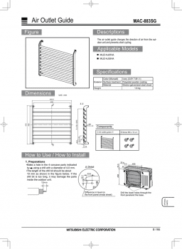 Deflector de aire Mitsubishi electric MAC-883SG - 2
