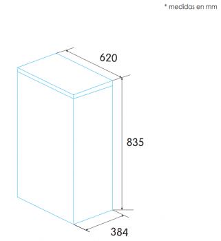 Arcón Congelador Edesa EZH-0611 Blanco de 83.5 x 62 x 38.4 cm con 59 L y tecnología Defrost | E - 2