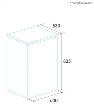 Arcón Congelador Edesa EZH-0911 Blanco de 83.5 x 60 x 53 cm con 88 L y tecnología Defrost | E - 2