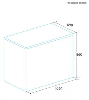 Arcón Congelador Edesa EZH-2811 Blanco de 86 x 109 x 69 cm con 275L y tecnología Defrost - 2