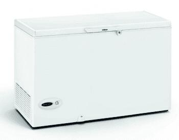 Arcón Congelador Edesa EZH-3511 Blanco de 86 x 132 x 69 cm con 349 L y tecnología Defrost