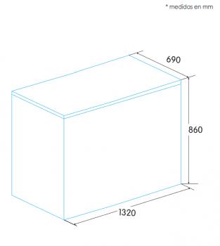Arcón Congelador Edesa EZH-3511 Blanco de 86 x 132 x 69 cm con 349 L y tecnología Defrost - 2