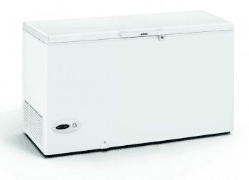 Arcón Congelador Edesa EZH-4111 Blanco de 86 x 151 x 69 cm con 411 L y tecnología Defrost