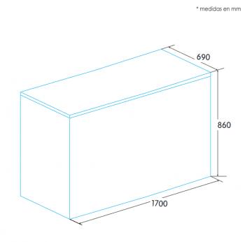 Arcón Congelador Edesa EZH-5011 Blanco de 86 x 170 x 69 cm con 472 L y tecnología Defrost - 2