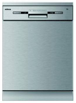 Lavavajillas Edesa EDW-6230 X Inoxidable de 84.5 x 59.8 cm para 13 servicios con 7 programas de lavado | Clase E