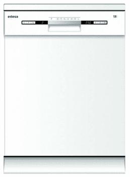 Lavavajillas Edesa EDW-6230 WH Blanco de 84.5 x 59.8 cm para 13 servicios con 7 programas de lavado | Clase E