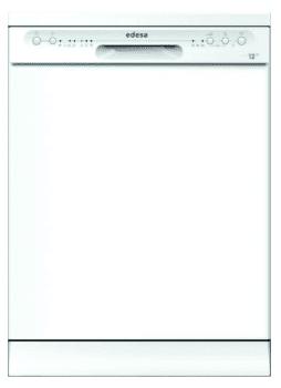Lavavajillas Edesa EDW-6120 WH Blanco de 84.5 x 59.8 cm para 12 servicios con 4 programas de lavado | Clase E