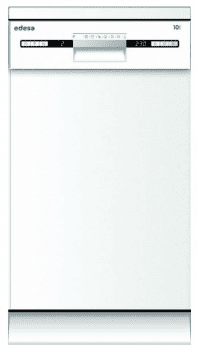 Lavavajillas Edesa EDW-4710 WH Blanco, de 45 cm, para 10 servicios con 7 programas de lavado | Clase E