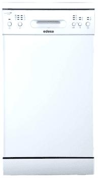 Lavavajillas Edesa EDW-4610 WH Blanco, de 45 cm, para 10 servicios con 6 programas de lavado | Clase E
