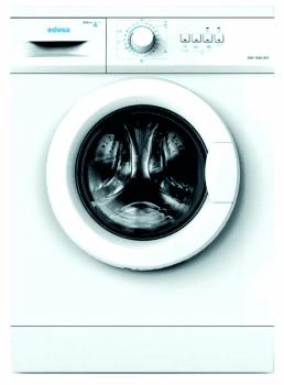 Lavadora Edesa EWF-1060 WH /A de Carga Frontal, Blanca, de 6 Kg, a 1000 rpm con 23 programas de lavado | Clase E