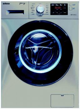 Lavadora Edesa EWF-1470 X de Carga Frontal, Inoxidable, de 7 Kg, a 1400 rpm con 23 programas de lavado | Clase B