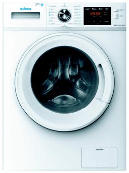Lavadora Edesa EWF-1482 WH de Carga Frontal, Blanca, de 8 Kg, a 1400 rpm con 14 programas de lavado | Motor Inverter de Clase B