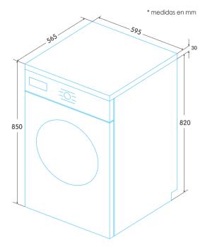 Lavadora Edesa EWF-1482 WH de Carga Frontal, Blanca, de 8 Kg, a 1400 rpm con 14 programas de lavado | Inverter - 2