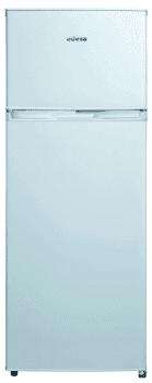 Frigorífico 2 Puertas Edesa EFT-1411 WH/A Blanco de 144 x 55 cm con capacidad de 204 L, las puertas son reversibles | Eficiencia F