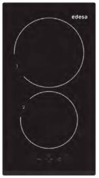 Placa de Inducción Modular Edesa EIT-3220 B con 2 Zonas de inducción (21 cm máx) con 9 niveles de potencia y Booster