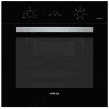 Horno Edesa EOE-7040 FBK Negro de 70 L con 6 + 2 programas de cocinado | Guías laterales telescópicas | Clase A