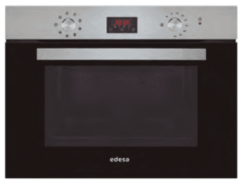 Horno Compacto Edesa EOE-4530 X Inoxidable de 40 L con 6 + 2 programas de cocinado | Guías laterales telescópicas | Clase A