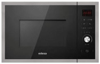 Microondas Integrable Edesa EMW-2530-IG XBK Negro de 25 L con 5 niveles de potencia a 900 W y Grill a 1200 W