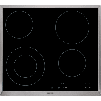 Placa Vitrocerámica AEG HK624010XB 60 cm Inoxidable 4 zonas de cocción
