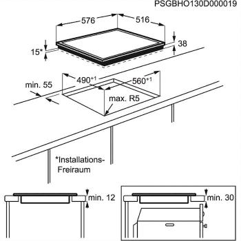Placa Vitrocerámica AEG HK624010XB 60 cm Inoxidable 4 zonas de cocción - 5